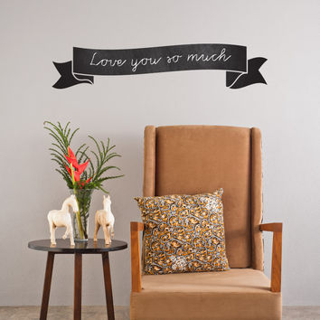 Curvy Banner wall decal