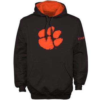 Clemson Tigers Arch logo Pullover Hoodie - Charcoal