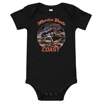 Find Your Coast Merica Dude Baby and Toddler Onesuit