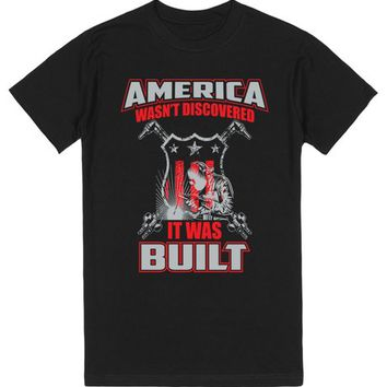 America Was Built Proud Welding Flag Father's Day Tees