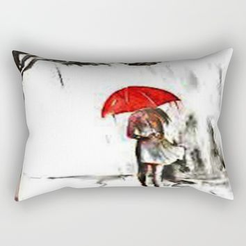 a rainy day Rectangular Pillow by exquisite