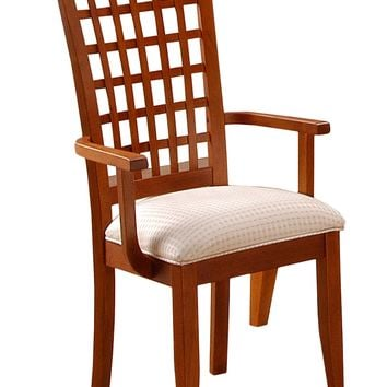 "Dining Chair - 2Pcs / Amaretto ""Weave Back"" Style"