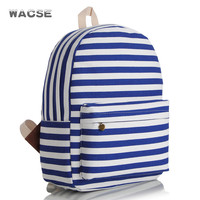 Fashion Stylish Striped Stripes Canvas Korean Backpack = 4887703428
