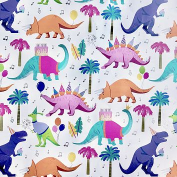 Bulk Ream Roll Birthday Party Gift Wrap Wrapping Paper, Dinosaur Party