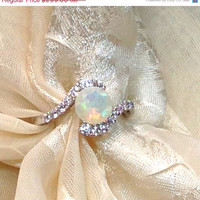 RING in 2015 15% off RING Opal Bypass Ring or Engagement Ring Handmade Jewelry
