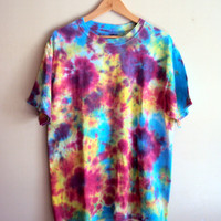 Unisex Tie Dye  T-Shirt Unique Top Hand Dyed T-Shirt  Beach Wear Retro Top Women Men Clothing Fashion Accessories