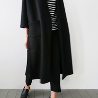 Deep Side Slit Cardigan