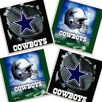 Dallas Cowboys Coasters, Dallas Cowboys decor, Football Coasters, NFL, Fathers Day, Sports Coasters, Man Cave, Texas pride, lone star, blue