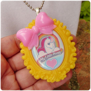 My Little Pony Cameo Necklace Kawaii fairy kei by TragicStitches
