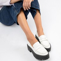 Bershka white chunky loafer at asos.com