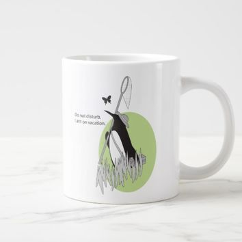 Penguin on Vacation Funny and Chic Original Design Large Coffee Mug