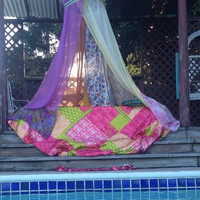 Boho Bedding Canopy Tent ~ Gypsy Glamping Tent~ Gypsy Backdrop Hippie Bedroom