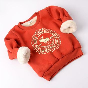 BibiCola Winter Children Cartoon Sweaters Kids Girls Boys Long Sleeve Casual Thicken Warm Shirt Sweaters Baby Clothes