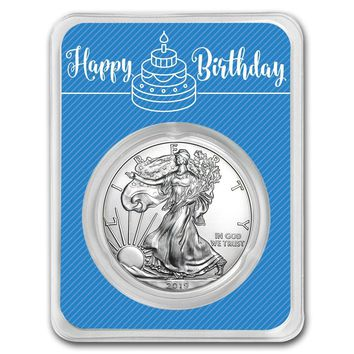 2019 1 oz Silver American Eagle - Royal Birthday
