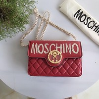 Moschino Metal Chain Crossbody Shoulder Bag