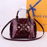 Louis Vuitton Women Leather Tote Satchel Shoulder Bag Handbag Crossbody