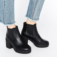 Truffle Chunky Heeled Chelsea Boots at asos.com