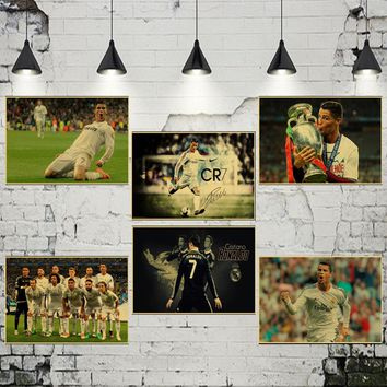 World Cup Play Football cristiano ronaldo Poster Home wall decorative Wall Sticker Real Madrid poster ronaldo 7 messi 10
