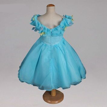 Cinderella Flower Girl Dresses Baby Evening Gown First Communion Dresses For Girls