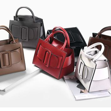 Women Leather Shoulder Big Handbags