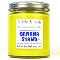 Banana Stand Scented Soy Candle - 8 oz. jar - Yellow - There's always money in the banana stand - Arrested Development