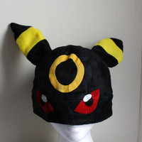 Umbreon pokemon Fleece Hat Anime Manga Cosplay Rave Skiing Snowboarding Video Game