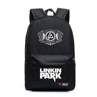 Dropship Harajuku Canvas Galaxy Rock Music Linkin Park Printing Backpack School Bags for Teenagers Travel Bag Mochila Escolar
