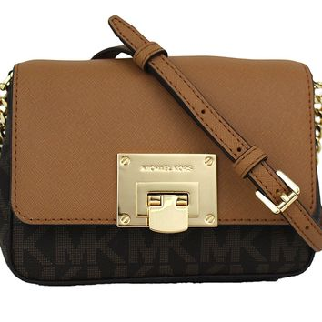 Michael Kors Tina Small Leather Clutch, Crossbody Shoulder Bag