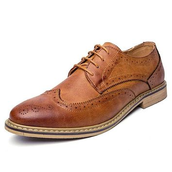 Casual Leather Brogue Oxfords Shoes