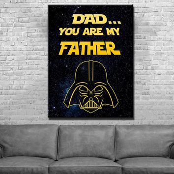 Darth Dad Father's Day Canvas Set