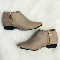 Elegant Swiss Honeymoon Booties