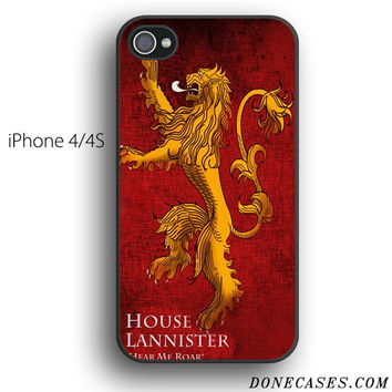 Game of Throne House lannister hear me roar case for iPhone 4[S]