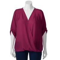 HeartSoul Bubble Envelope Top - Juniors' Plus, Size: