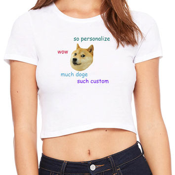 Doge Personalized Crop T-shirt