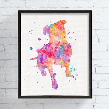 Pit Bull Watercolor, Pit Bull Art, Pit Bull Print, Pit Bull Wall Art, Pit Bull Poster, Dog Wall Art, Dog Lover Gift, Illustration