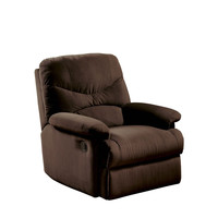 Comfortable Recliner Chair in Chocolate Brown Microfiber Upholstery
