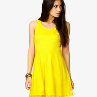 Fit & Flare Floral Lace Dress | FOREVER 21 - 1021841330