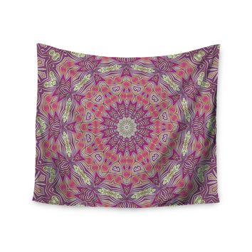 "Alison Coxon ""Gypsy Medallion Purple"" Pink Digital Wall Tapestry"