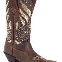 "Durango Women's 12"" Crush Bling Western Boot - Brown"