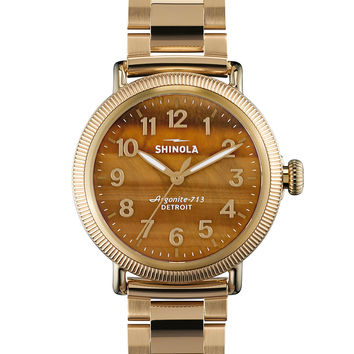 Runwell Golden Bracelet Strap Watch, 38mm - Shinola