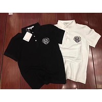 Givenchy 2019 new embroidered dog head polo shirt high-end wild men and women T-shirt
