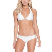 Luli Fama White Halter Top