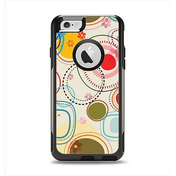 The Open Vintage Vector Swirls Apple iPhone 6 Otterbox Commuter Case Skin Set