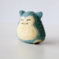 Snorlax Needle Felted Konigiri, Pokemon