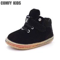 COMFY KIDS 2017 Winter New Arrivals Child Snow Boots Shoes Size 21-25 Boys baby toddler boots warm plush girls boots shoes kids