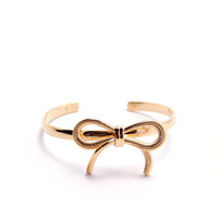 What A Bow Cuff Bracelet - Gold