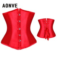 AONVE Corset Women Waist Trainer Corsets Sexy Underbust And Bustiers Steampunk Slimming Underwear Bodice Plus  Corselet S-6XL