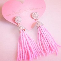 Missy Piggy Tassel Earrings