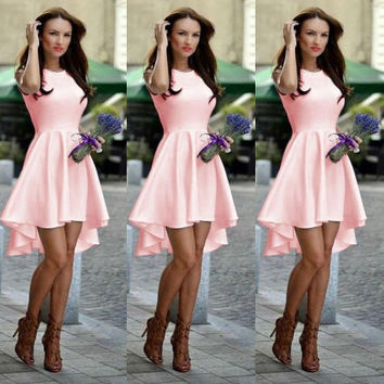 Fashion Women Summer Dresses O-neck party Dress  A Line Sleeveless  sexy Dress For Women Vestidos Free Shipping LJ3265M