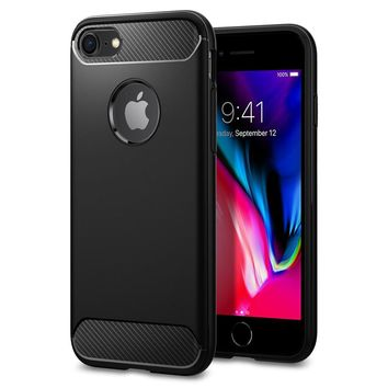 Original Rugged Armor Case for iPhone 7 8 Carbon Fiber Texture Military Grade Drop Resistance Cases for iPhone 7 / iPhone 8